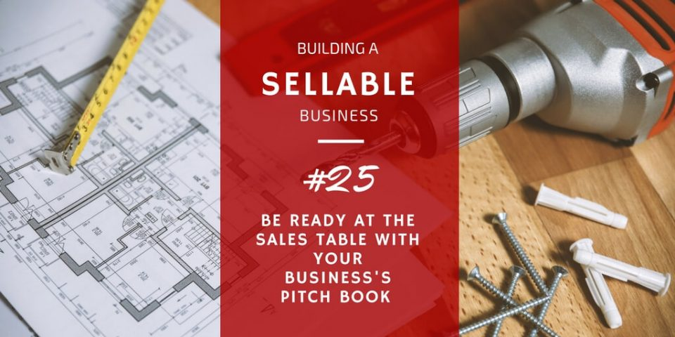 The value of a business pitch book to sales offers