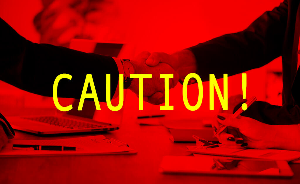 be cautious when selling your business