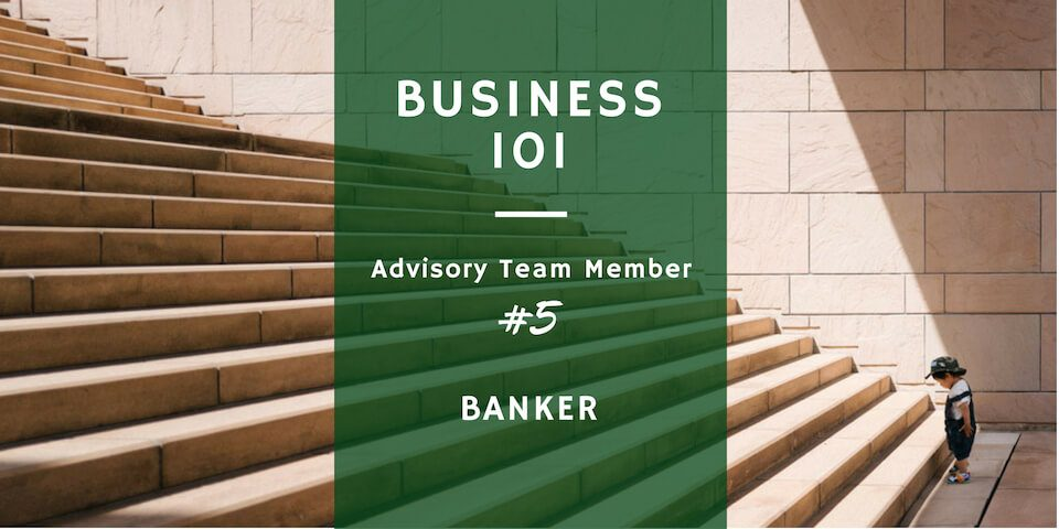 banker in a startup business