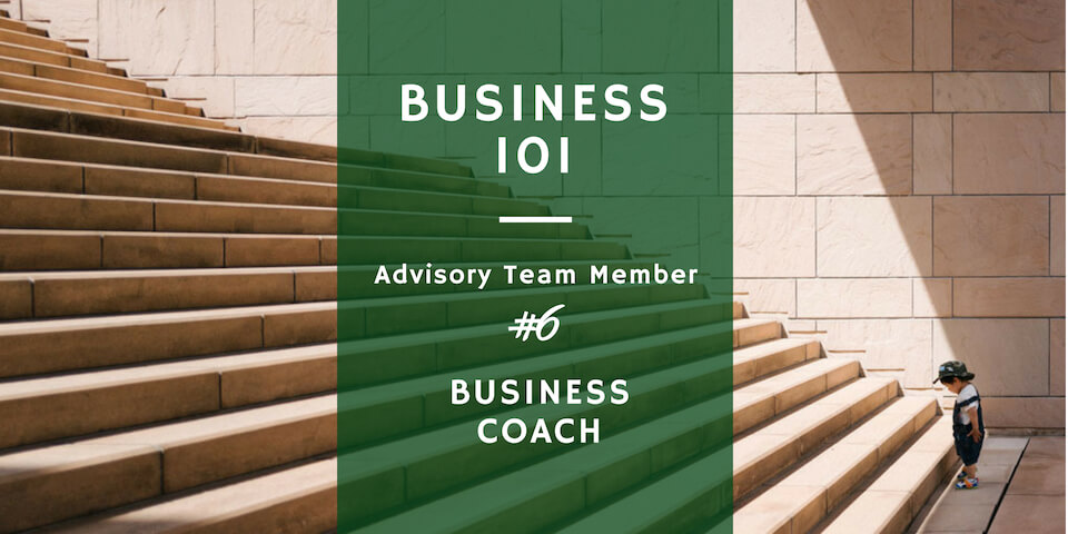 a business coach in a startup business