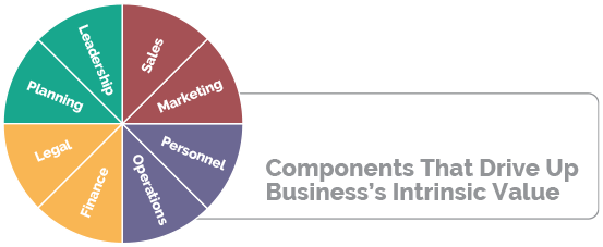 components of business intrinsic value chart