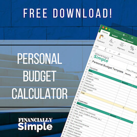 Download the Personal Budget Calculator