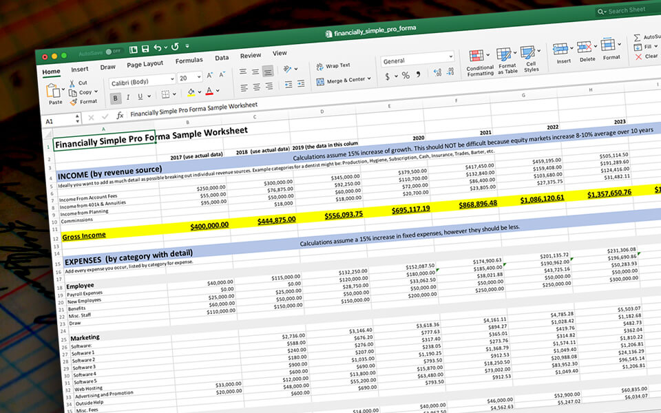 How to build a pro forma