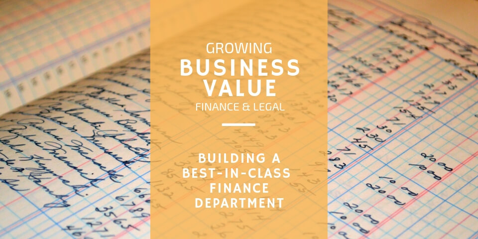 Building a Best-in-Class Finance Department
