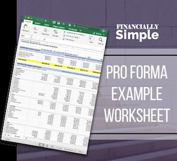 pro forma example worksheet